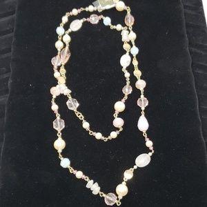 NWTCarolee light pink necklace